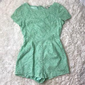 Mint green romper
